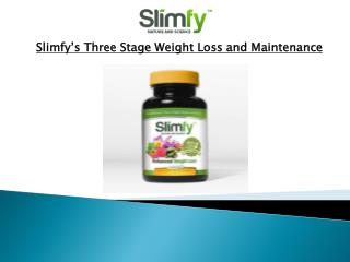 Slimfy's Three Stage Weight Loss and Maintenance