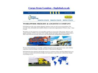 Cargo From London - fnglobal.co.uk
