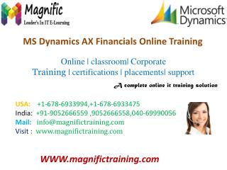 Microsoft Dynamics AX Training Courses