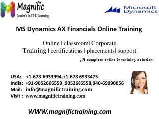 microsoft dynamics ax 2012 financials training