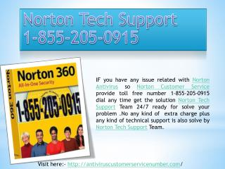 Norton Tech Support Customer Service Phone Number
