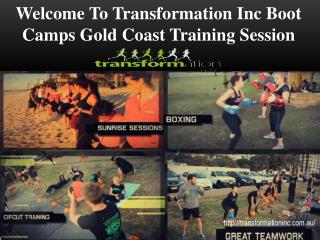 Boot Camps Gold Coast Training Session