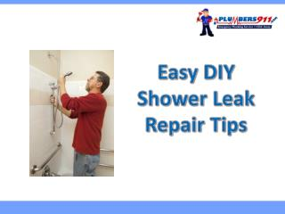 Easy DIY Shower Leak Repair Tips