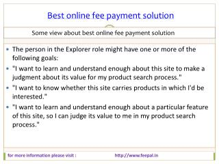 Important Guidelines for best online fee payment solution