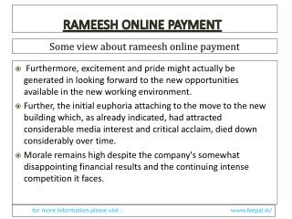 Most user perceptions of the characteristics of rameesh onli
