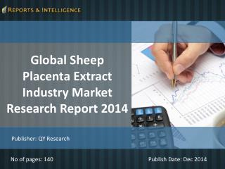 Sheep Placenta Extract Industry Market - Size, Share 2014