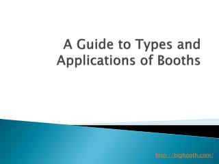 A Guide to Types and Applications of Booths