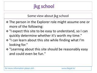 Easily find details about jkg school