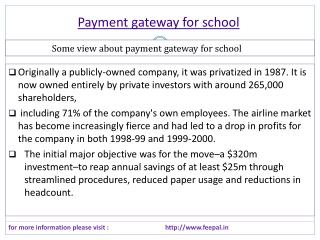 Importance rules of payment gateway for school