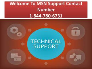 MSN Support Contact Number 1-844-780-6731