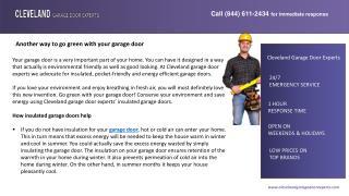 Another way to go green with your garage door