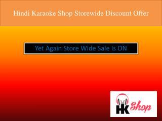 Hindi Karaoke Shop Storewide Discount Offer