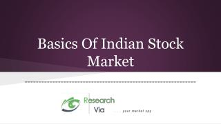 Basics Of Indian Stock Market
