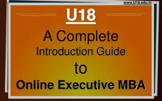 Online executive mba complete guide - U18 distance education