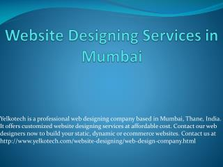 Website Designing Services in Mumbai