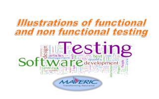 Illustrations of functional and non functional testing