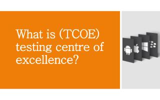 What is (tcoe) testing center of excellence