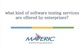 What kind of software testing services are offered by enterp