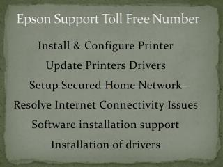 Epson Support Toll Free Number 1-800-832-1504