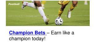 Champion Bets