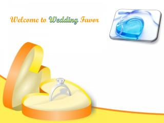 Personalized Wedding Favors by Wedding Favor in Canada