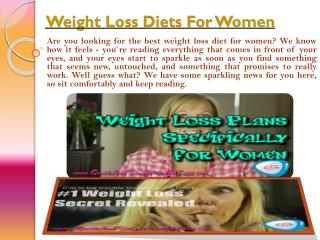 Best Weight Loss Diet For Women