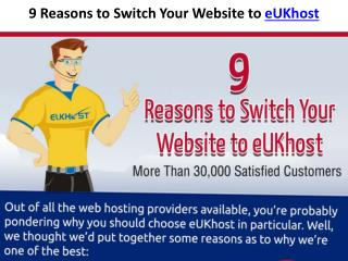 9 Reasons to Host Your Website With eUKhost