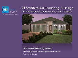3D Architectural Rendering and Design Visualization and the