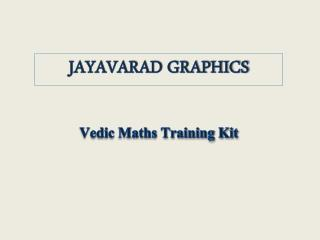 Vedic Maths Training Kit