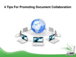 4 Tips For Promoting Document Collaboration