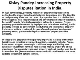 Kislay Pandey-Property Dispute Lawyer