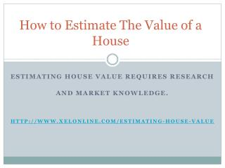 How to value a House for Sale?