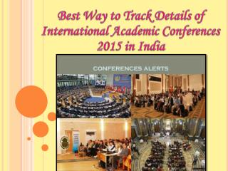 International Academic Conferences 2015 in India