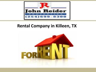 Rental Company in Killeen, TX