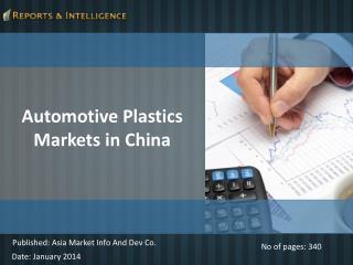 Automotive Plastics Markets in China