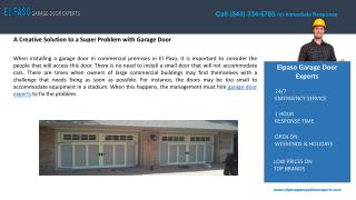 Residential Garage Door Repair Elpaso