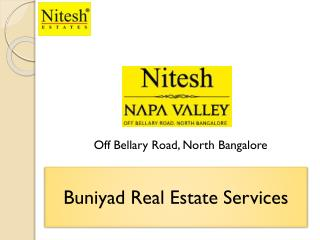 Sumptuous Villas in Nitesh Napa Valley Bangalore