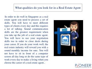 What qualities do you look for in a Real Estate Agent
