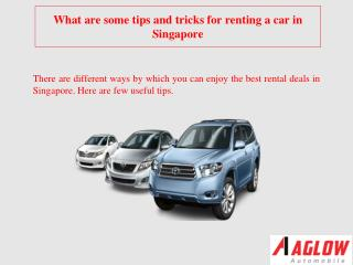 What are some tips and tricks forrentingacarin Singapore