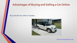 Advantages of Buying and Selling a Car Online