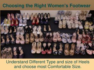 Choosing the Right Women's Footwear