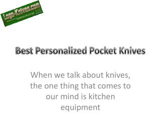 Best Personalized Pocket Knives