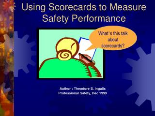 Using Scorecards to Measure Safety Performance