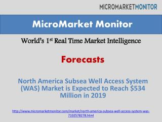 North america subsea well access system (was) market