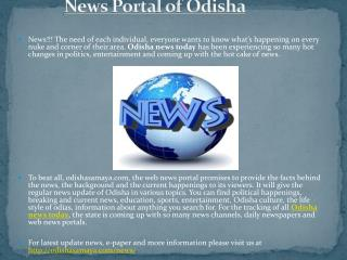 Odisha News Today