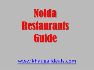 Restaurants in Noida