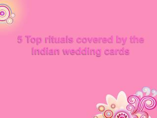 Hindu wedding invitation cards