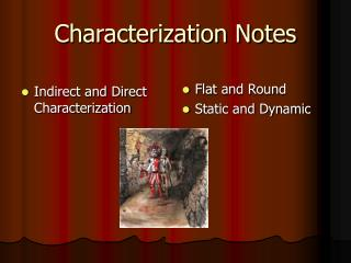 Characterization Notes