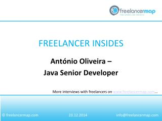 Ant�nio Oliveira - Senior Java Developer