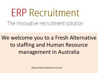 Recruitment Agency in Australia
